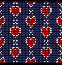 seamless love knitting pattern vector image
