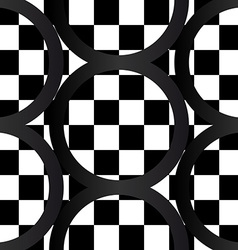 Seamless pattern of crazy bw geometrics vector