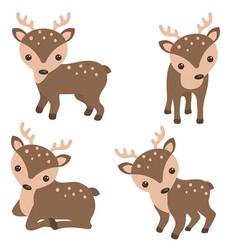 set of cute reindeer set of cute reindeer vector image