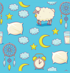 sleep concept with pillow vector image