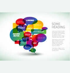 speech bubble diagram template vector image
