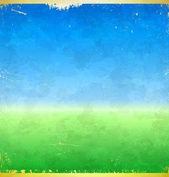 Spring themed grungy retro background vector image
