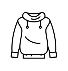 Sweatshirt line icon concept sign outline vector
