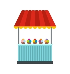 Tent with ice cream icon vector