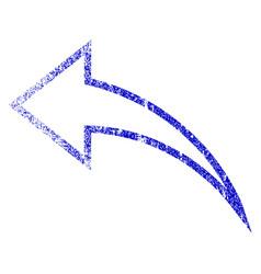 Undo grunge textured icon vector