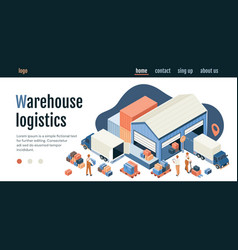 warehouse logistics concept with distribution vector image