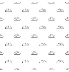 Winter cloud pattern vector