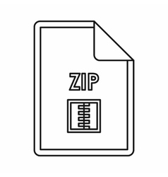 ZIP file archive icon outline style vector