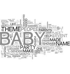 baby shower idea text word cloud concept vector image vector image
