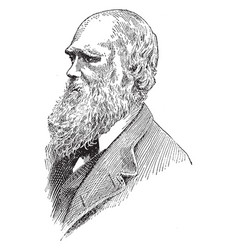 Charles darwin vintage vector