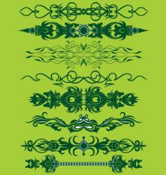 floral pattern bands vector image