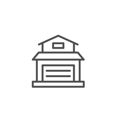 garage line icon vector image