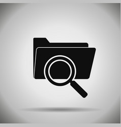 search folder icon vector image