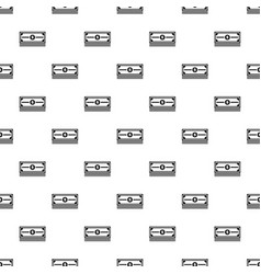 stack of dollars pattern vector image