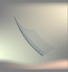 wire frame polygonal landscape bent wire frame vector image