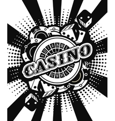 Casino background poster print vector image vector image