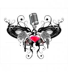 guitar heraldry vector image