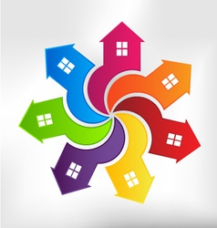 Houses Logo design element vector image vector image