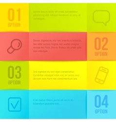 infographic template with copyspace vector image