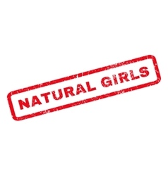 Natural Girls Rubber Stamp vector image vector image