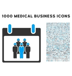 Staff Calendar Day Icon With 1000 Medical Business vector image