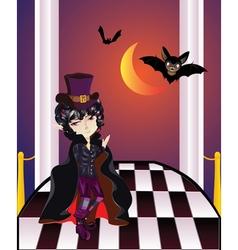 Vampire on Balcony2 vector image