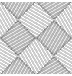 Abstract Striped Squares Geometric Seamless vector image vector image