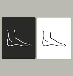foot - icon vector image