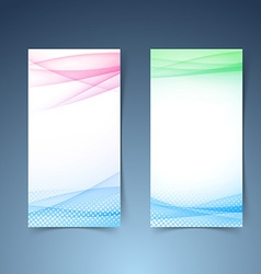Modern transparent vertical smooth wave card vector image vector image