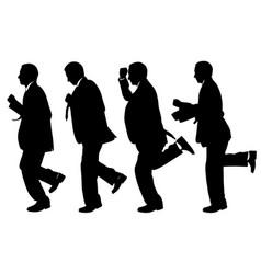 set of men running vector image