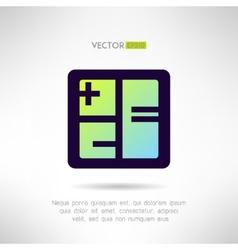 Simple calculator icon im modern design vector image vector image