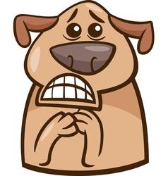 terrified dog cartoon vector image vector image