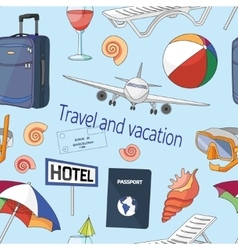 Travel and vacation pattern vector image