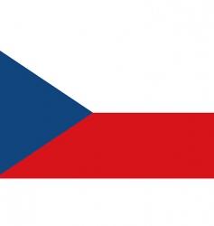 Czech Republic flag vector image vector image