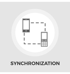 Phone sync flat icon vector image vector image