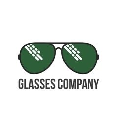 Retro and modern style glasses logo set vector image vector image
