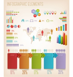 Set of Info graphics elements vector image