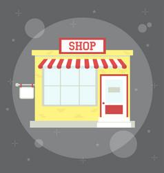 small cute shop vector image