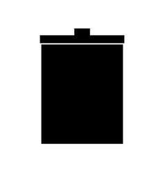 trash bucket the black color icon vector image vector image