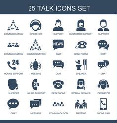 25 talk icons vector