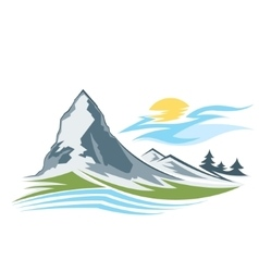 Abstract high mountain vector image