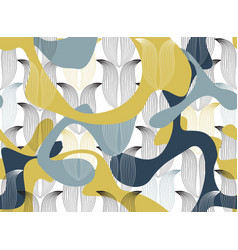 abstract seamless floral linear pattern arabic vector image