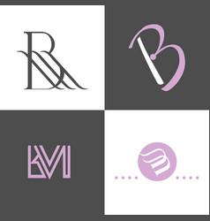 alphabet logo design for business company vector image