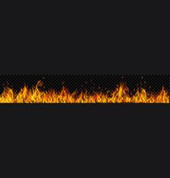Banner fire flames vector