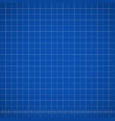 Blueprint blank drawing template with blue vector