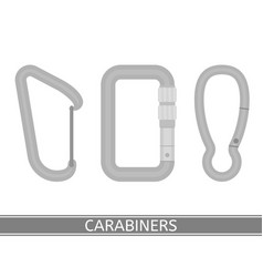 Carabiners icon set vector