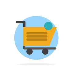 cart shopping shipping item store abstract circle vector image