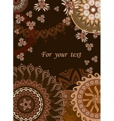 Chocolate postcard vector