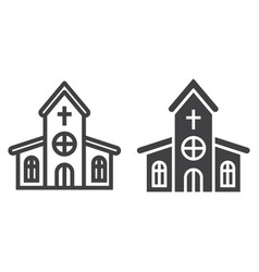 church line and glyph icon easter and holiday vector image