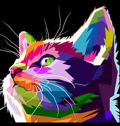 Close up of cool cat vector
